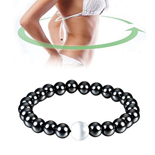 Braccialetto magnetico Bracciale in pietra ematite unisex per dimagrire dimagrante, anti-affaticamento, cura sana, per uomo, donna, gioielleria
