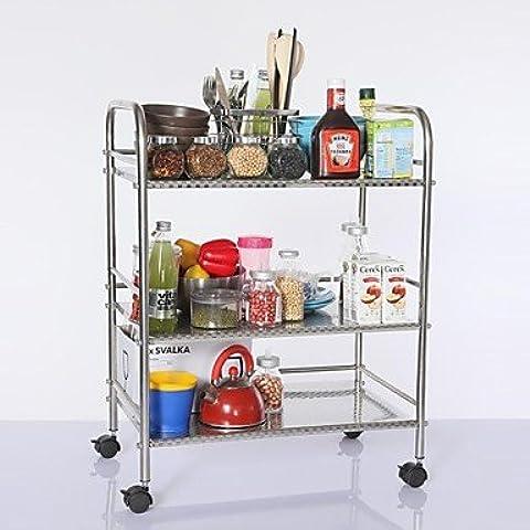 JSGN-In acciaio inox 60 centimetri tre strati Magazzinaggio Forno a microonde Shelf