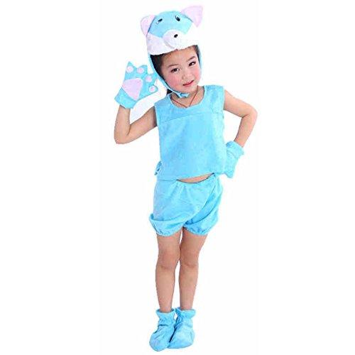 Die Casual Kits Kindergarten Blue Cats Collection Kinderkostüm Schule Spielen Party Kleidung . 1# . 120Cm (Black Cat-zubehör Für Kostüm)