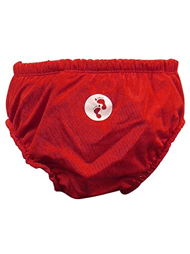 Two Bare Feet Baby Swim Nappy - Reusable Washable Nappies 0-24 Months (Medium 12-18mths, Red)