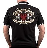 Männer und Herren Polo Shirt Hüte Dich vor Brandenburg (mit Rückendruck) Größe S - 10XL