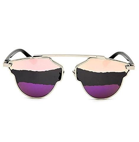 MYLL2017 New Arc-en Deux Couleurs Dames Lunettes De Soleil Classic Europe Et Les États-Unis Lunettes Cat Eye Protection UV400,Purple-OneSize
