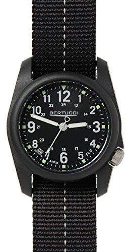 Bertucci 11043unisex in nylon nero fascia nera quadrante orologio intelligente