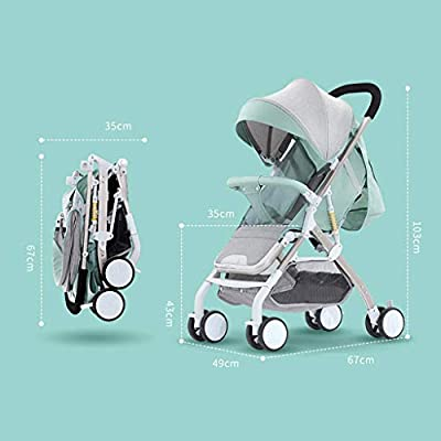Kinderwagen kann liegend abnehmbarer leichter faltender Doppelkinderwagen sitzen