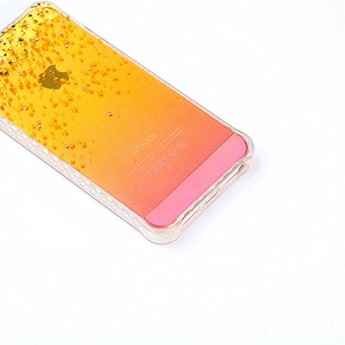 iPhone 5S Custodia Diamante Bling,iPhone SE Cover in Silicone,Etsue 2017 Neo Disegni Donna Ragazza Cristallo Bling Scintillante Diamante Bella Elegante Romantico Farfalla Modello Trasparente Flessibil bling
