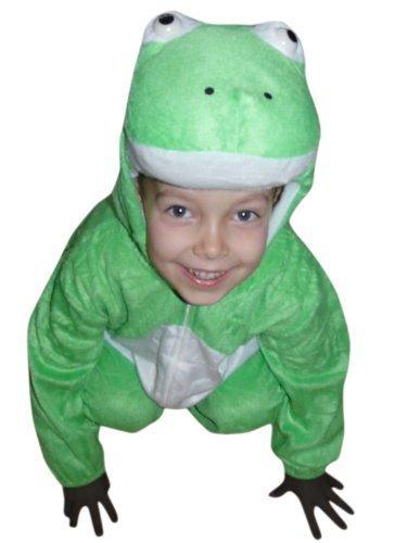 J01 Größe 98-104 Frosch Kostüm für Kleinkinder und Kinder, bequem über normale Kleidung zu (Kostüm Frosch Kleinkind)