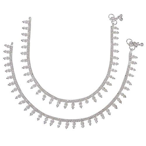 Banithani plage pied cheville Bracelet Bijoux traditionnels indiens griffés cadeau pour femmes Argent-2