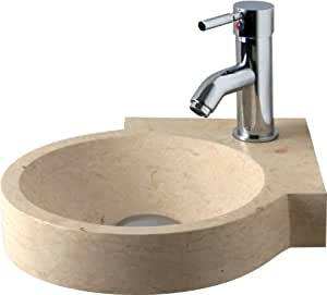 Lavabo d 39 angle marbre lavabo marbre marbre lavabo m90 for Amazon lavabos