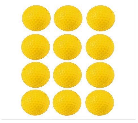 Crestgolf Practise Boule en mousse 12pcs par sachet, jaune