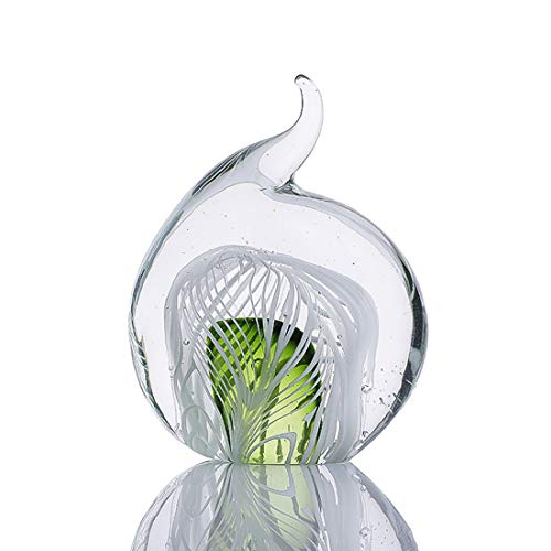 H&D Moderne Glasskulptur Kreative Skulptur Deco Skulptur Skulptur aus Glas Sky Elephant Ring Halter -
