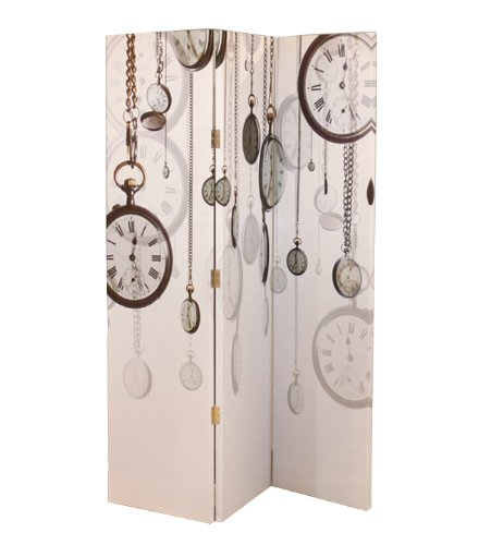Arthouse Pocket Watch Room Divider Screen -