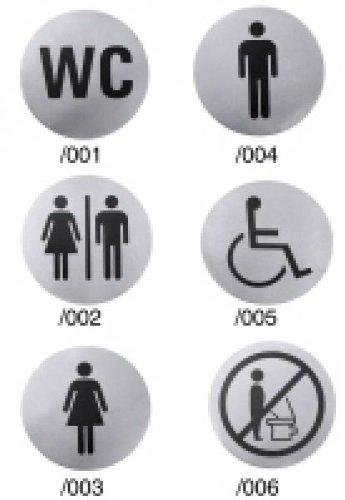 Contacto HERR Symbole de Porte en Acier Inoxydable