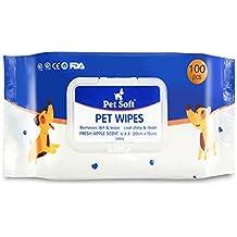 Toallitas de aseo para perros y gatos, limpieza y desodorización higiénica, ...