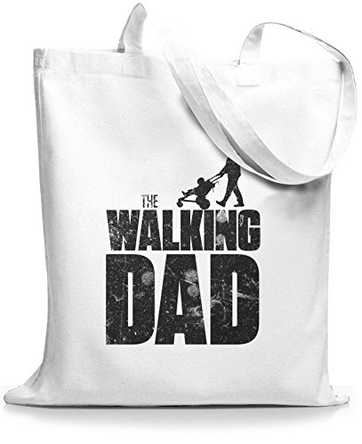 StyloBags Jutebeutel / Tasche The Walking dad Weiß