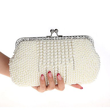 Damenmode noble Pearl bag Dinner Party Beutel Champagne