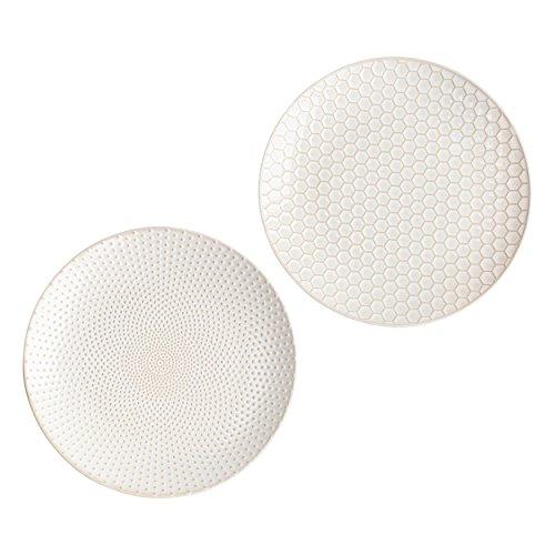 ASA Assiette en porcelaine 20,30 x 20,30 x 2,50 cm, 2 unités, blanc 90404071.