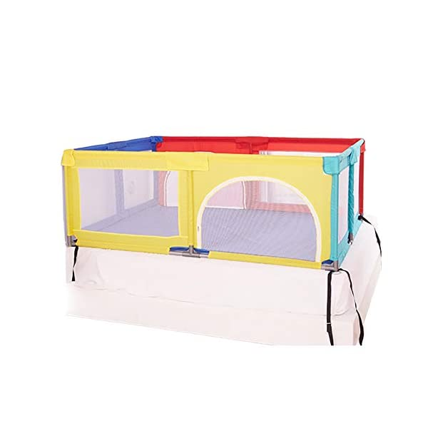 Playpens With Mat, Toddler Activity Centre Play Yard, Lightweight Portable Protective Fence, 150×190×70cm Playpens  1