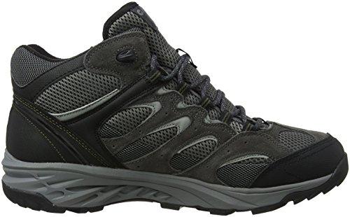 Hi-Tec Wild-Fire Mid I Waterproof, Chaussures de Randonnée Hautes Homme Gris (Charcoal/black/olive Night)