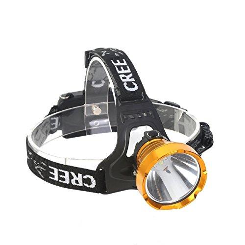 YEXIN Torcia frontale ricaricabile a LED, proiettore lumen potente Zoomable, IPX5 resistente all'acqua, migliori fari per campeggio all'aperto e al coperto, sicurezza, utilizzo di emergenza Night R