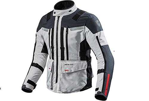REV'IT! Motorradschutzjacke, Motorradjacke Sand 3 Textiljacke Silber/anthrazit L, Herren, Enduro/Reiseenduro, Ganzjährig