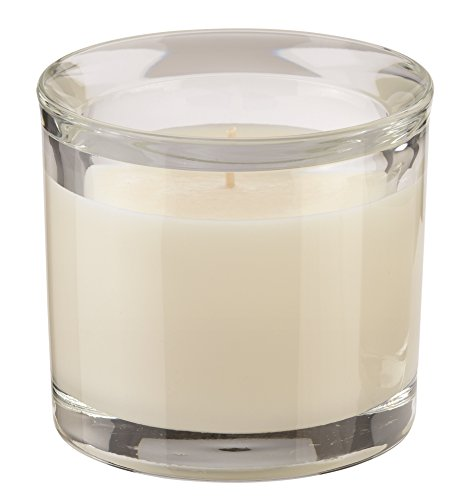 Unbekannt Engelskerzen Duftkerze im Glas, lilu,Elfenbein duft Bloomy Mornings, 9 x 9 x 9 cm