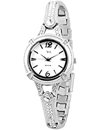 Watch Me Analog White Dial Stainless Steel Metal Strap Girls And Women's Watch WMAL-119-Svjeazy