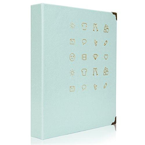 [Fujifilm Instax Mini Álbum de Foto] Woodmin 150 bolsillo de la Bobina PU Álbum de Fotos de Películas Polaroid 3 Pulgadas Nombre Tarjeta Holder Libro(Lima Verde).