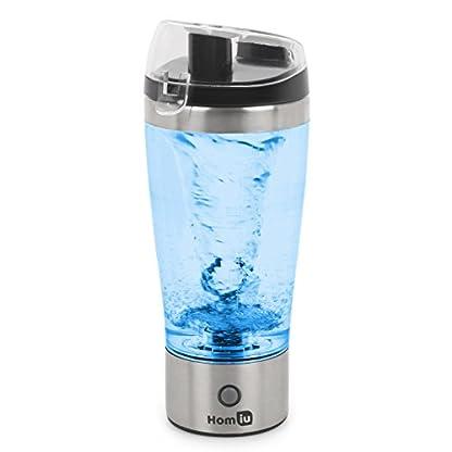 Homiu-Electric-Protein-Shaker-Flaschenmischer-Automatisches-Uhrwerk-Vortex-Tornado-450-Milliliter-Abnehmbar-in-Cup-Leak-Proof
