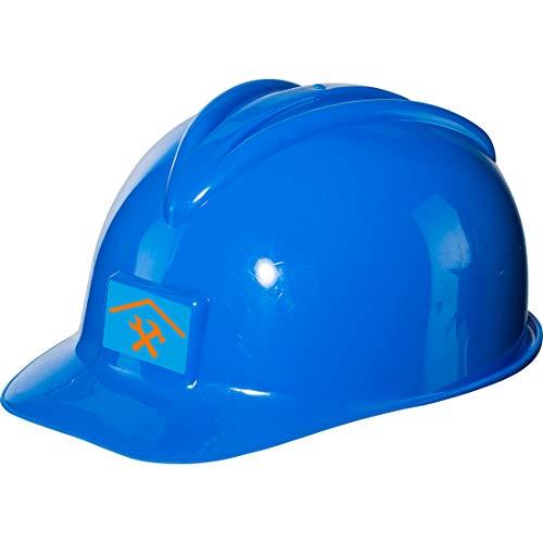 NET TOYS Hübscher Bauhelm für Kinder | Blau | Universelles Kinder-Kostüm-Zubehör Bauarbeiter | Perfekt geeignet für Kinderfest & Karneval