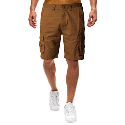 kolila Herren Mens Overalls Cargo Shorts Lässige Multi-Pocket Outdoor Sport Arbeitshose Kurze...