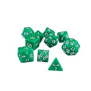 10pcs / Set Juegos TRPG Dungeons & Dragons Dados 4 Lados – 30 Lados – Negro