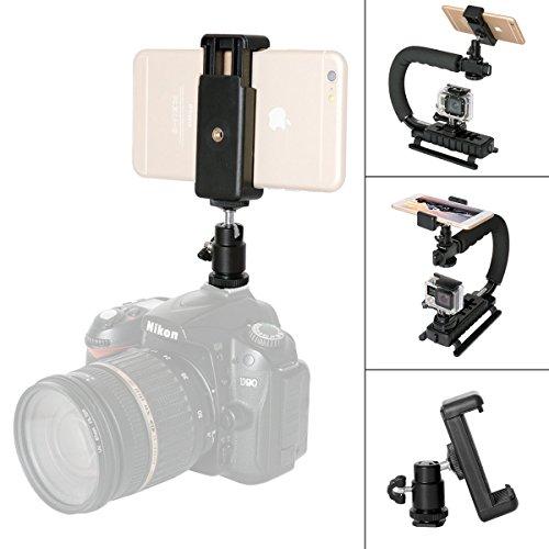 Fantaseal® DSLR Camera Hot Shoe Mount Smartphone Monitor Mount Smartphone Clamp Clip Hot Shoe Mount (UP to 5.5