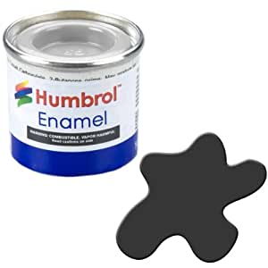 Humbrol 14ml No. 1 Tinlet Enamel Paint 33 (Black Matt)