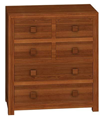 LifeEstyle SheeSham Wood Chest of 6 Drawers (Standard Size, Brown)