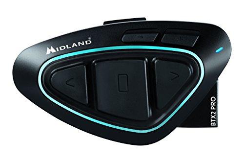 Midland Motorrad-Gegensprechanlage C1231 BTX2 Pro Single Passend für alle Helmtypen