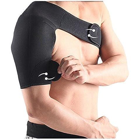 Spalla Peso Brace leggero e regolabile Supporto spalla Brace per cuffia dei rotatori prevenzione degli infortuni e di recupero (Destra) - Spalla Neoprene Supporto