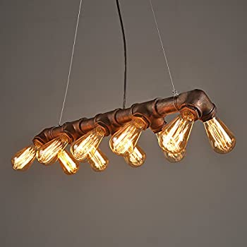 Lightess vintage industrial pendant ceiling light steampunk lamp lightess vintage industrial pendant ceiling light steampunk lamp retro metal water pipe edison lights chandelier aloadofball
