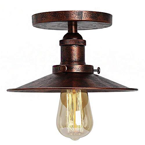 Deckenleuchte-bronze-anhänger (Huahan Haituo Decke Licht Modern Vintage Industrial Metal Schwarz Bronze Loft Bar Decke Licht Schatten Retro-Anhänger Light(StyleA,Rust))