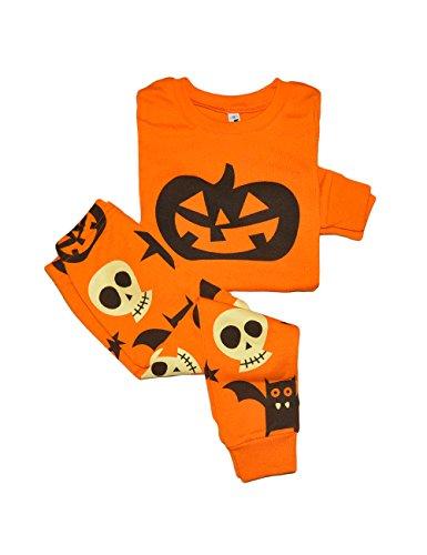 Little Hand Baby Kinder Jungen Bekleidung Halloween Kürbis kostüm Langarm Schlafanzug 1 2 3 4 5 6 7 (Kostüme Jahreszeiten Vier Halloween)