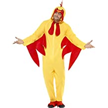Smiffys All-in-One de vestuario pollo con capucha (Medium)