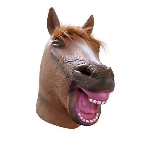 Dance Billig Kostüm - Factorys Brown Horse Mask, Neuheit Latex BoJack Horseman Mask für Halloween, Maskerade, Karneval