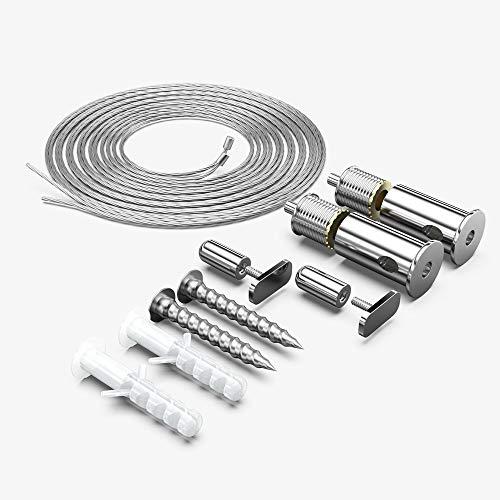 Seilaufhängung Zubehörer mit 100cm Seile verwendbar für Feuchtraumleuchten LED 60cm/120cm/150cm