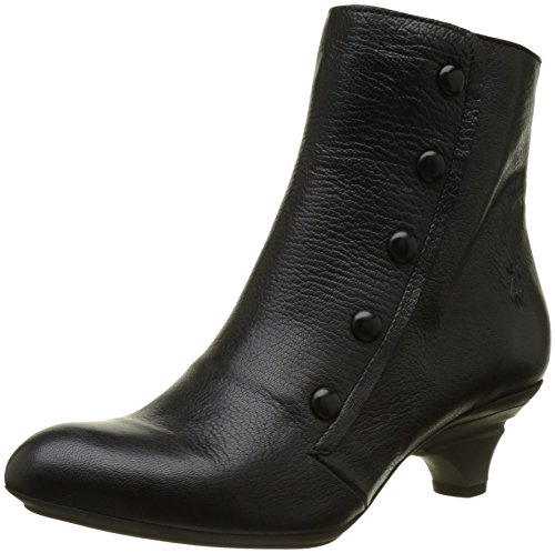 FLY London Damen Bibs118fly Stiefel, Schwarz (Black), 42 EU (Side Zip Black Stiefel)