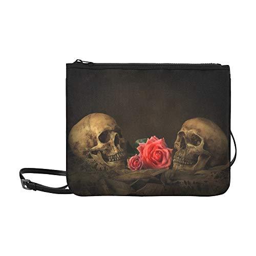 rtrait mit Rosen-Muster-Gewohnheit hochwertige Nylon-dünne Handtasche ()