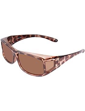 Rapid Eyewear Carey GAFAS DE SOL Polarizadas Para Colocar SOBRE LAS GAFAS Normales y de Lectura. Reducen el Deslumbramiento...