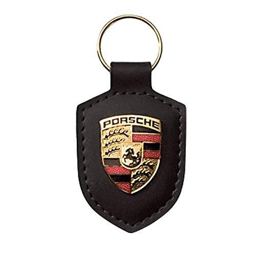 Porsche Porte-Clés Armoiries Cuir Noir, WAP0500900E