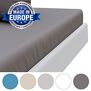 Dreamzie Microfibre Fitted Sheet with Deep Sides by Made in Europe and OEKO TEX Standard 100 Certified - Soft as Peach Touch - Crease-Free