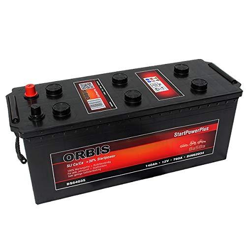 Orbis 12V 140Ah 64035 StartPower KFZ Batterie Starterbatterie - einsatzbereit - Sorgen Für Eine Hohe Calcium