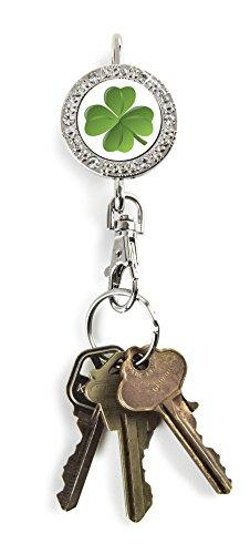 Alexx Finder Schlüssel Geldbörse 4Leaf Clover Bling Finder Schlüssel Geldbörse -