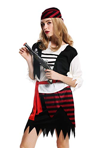 Kostüm Damen Frauen Karneval Halloween Piratin Seeräuberin Gr. S/M ()
